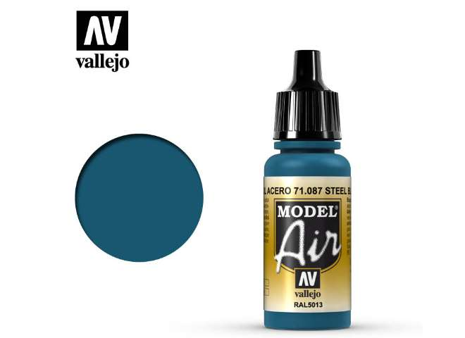 Vallejo Model Air - 087  Dark Sea Blue / Steel Blue