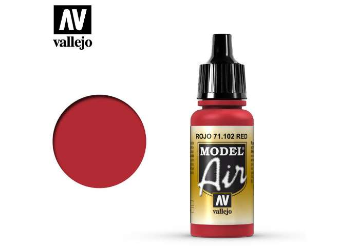 Vallejo 17ml MA102 Model Air - 102 Red RLM 23
