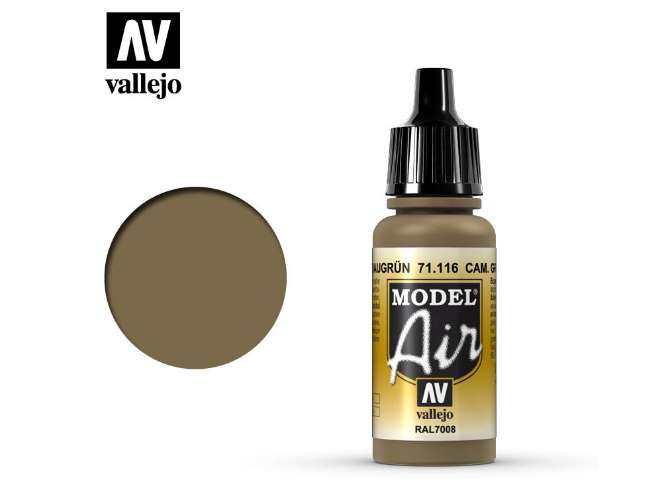 Vallejo 17ml MA116 Model Air - 116 Camouflage Grey Green RAL7008
