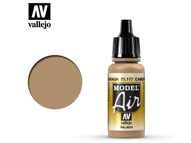 Vallejo 17ml MA117 Model Air - 117 Camouflage Brown RAL8020