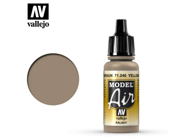Vallejo 17ml MA246 Model Air - 246 Yellow Brown