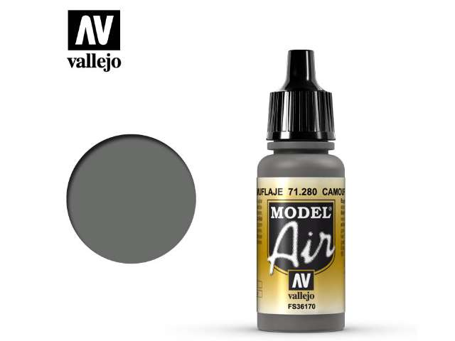 Vallejo 17ml MA280 Model Air - 280 Camouflage Grey