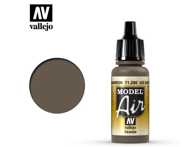 Vallejo 17ml MA290 Model Air - 290 US Earth Brown