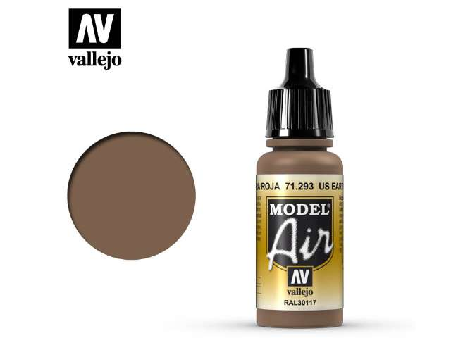 Vallejo 17ml MA293 Model Air - 293 US Earth Red