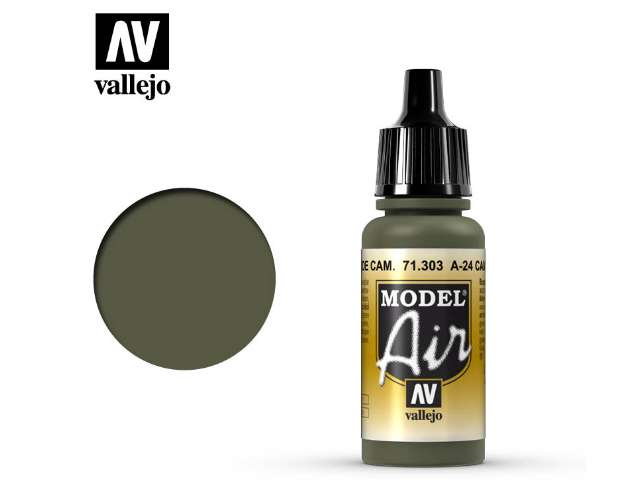 Vallejo 17ml MA303 Model Air - 303 A-24M Camouflage Green