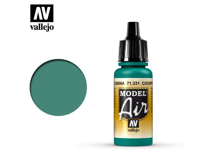 Vallejo 17ml MA331 Model Air - 331 Cockpit Emerald Green Faded