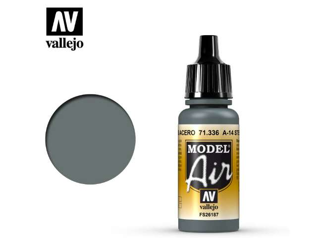 Vallejo 17ml MA336 Model Air - 336 A-14 Steel Grey