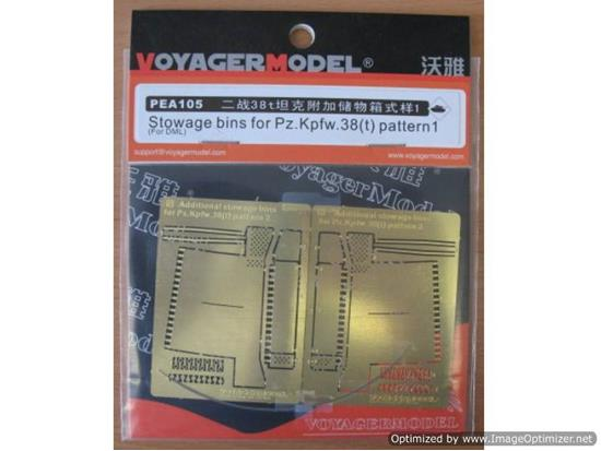 1/35 Stowage Bins for Pz.Kpfw.38(t) Pattern2 (For DRAGON 6290)
