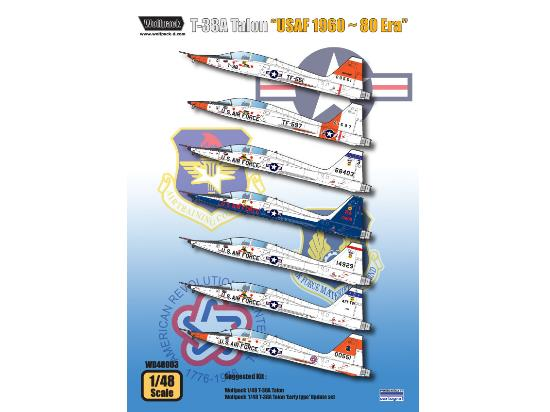 Wolfpack Design 1/48 T-38A Talon USAF 1960 - 80 Era Decals WD48003