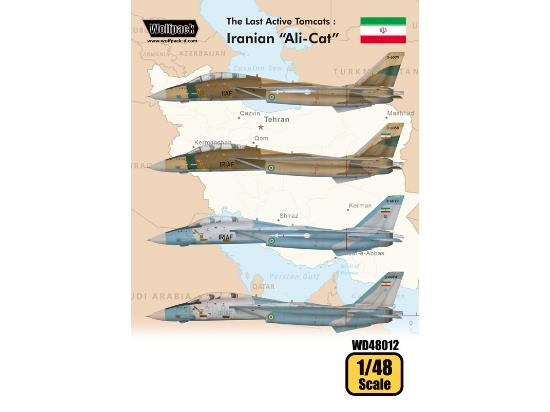 "Wolfpack Design 1/48 WD48012 The Last Active Tomcats - Iranian ""Alicat"" - F-14A"
