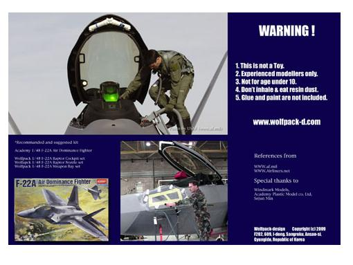 Wolfpack Design 1/48 WDWP48051 ACE II Ejection seat for F-22A (for Academy)