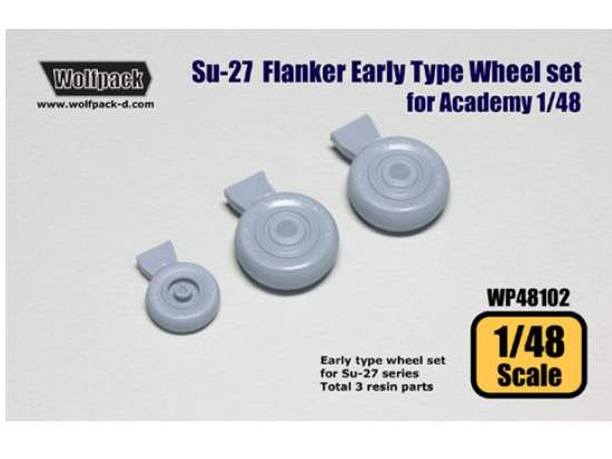 Su-27 Flanker Early type wheel set for Su-27 for Academy 1/48