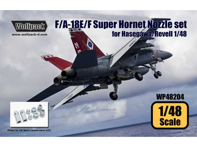 Wolfpack Design 1/48 WP48204 F/A-18E/F Super Hornet F414 Engine Nozzle Set