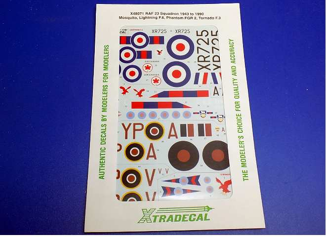 Xtradecal A48 48071 RAF 23 Squadron 1943 to 1990 (6) Decals